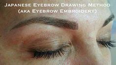 The Japanese method of drawing eyebrows (aka Japanese eyebrow embroidery)