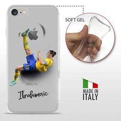 iPhone 7 TPU COVER PROTETTIVA GEL TRASPARENTE Calcio Soccer Football Ibrahimovic