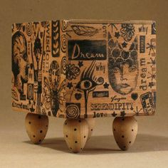 altered art (cigar) box