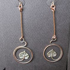 Copper and Sterling Silver Circling Galax Leaf от CreativeEddy
