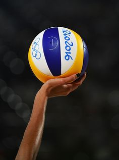 #RIO2016 Australia's Taliqua Clancy prepares to serve during the women's beach volleyball qualifying match between Australia and Venezuela at the Beach Volley...