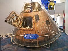 Apollo-Soyuz Command Module #111, on display at the California Science Center in Los Angeles, CA. The object is on loan from the Smithsonian National Air and Space Museum: http://s.si.edu/cgsnN  Photo by Sam Wise, Source: Flickr (username Sam_Wise)