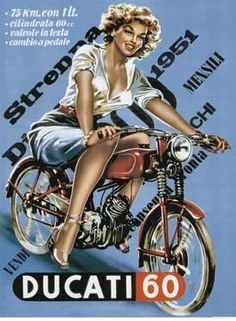 Vintage Ducati Art Poster