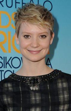 Mia Wasikowska: adorable dimples and gorgeous, warm brown eyes.