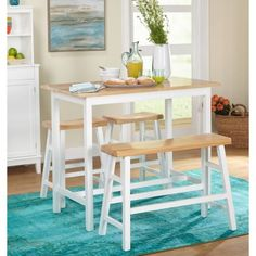 online shopping for Simple Living Galena Modern Farmhouse Counter Height dining table & set from top store. See new offer for Simple Living Galena Modern Farmhouse Counter Height dining table & set Patio Bar Set, Pub Table Sets, Table And Chair Sets, A Table, Table Stools, Patio Table, Farmhouse Style Bar Stools, Farmhouse Dining Set, Modern Farmhouse