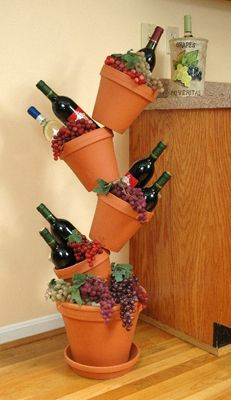 flip flop flower pot wine display