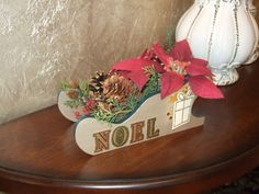 Christmas Decor Centerpiece Table Decoration by ArtOnceAgain, $24.00