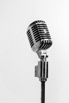 Vintage microphone on stand More
