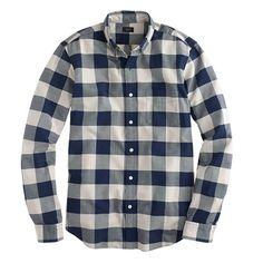 Vintage oxford shirt in navy gingham