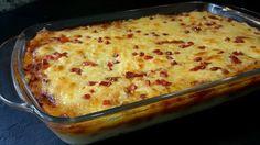 Patel de patata con carne. Receta fácil para preparar un lato único a base de puré de patatas y carne.