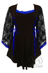 Anastasia Top in Black/Royal | Dare Fashion
