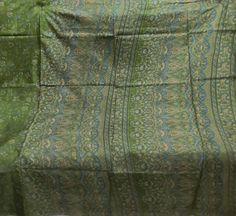 Impressive Vintage Floral Pure Silk Fabric Sari Saree Flower ~Free Shipping