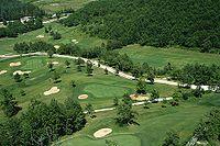 Площадка для гольфа состоит из 18 лунок. На площадке для игры могут присутствовать различные препятствия - водные преграды, кусты, деревья и т. д. http://upload.wikimedia.org/wikipedia/commons/thumb/6/6d/Golf_dall%27elicottero.jpg/200px-Golf_dall%27elicottero.jpg