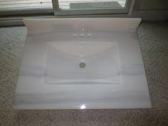 custom cultured marble vanity top
