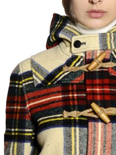Ralph Lauren plaid toggle coat