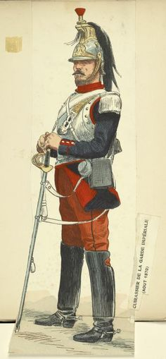 French Cuirassier General | Campaign uniform during the Franco-Prussian War.