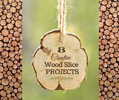 Here are some tips to make something creative wood slice projects for your home or as a gift (plus some tips on how to cut and finish the wood).