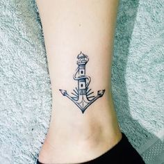 lighthouse / anchor tattoo
