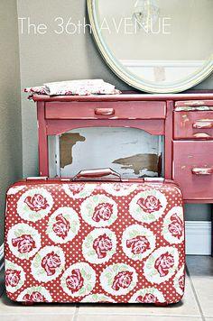 DIY: Mod Podge Suitcase TUTORIAL