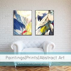 Abstract Floral Series 1 by LUNARAYDESIGN on Etsy