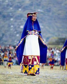 Woman in Costume for Inti Raimi Festival of the Incas, Cusco, Peru