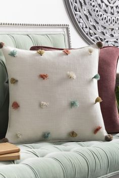The Byron Bay Pillow is the pefrect throw pillow for lounge chair, sofa, or bed. Made in India from 100% Cotton. The Byron, Byron Bay, Apartment Door, Modern Pillows, Sea Foam, Mid-century Modern, Lounge, Sofa, India