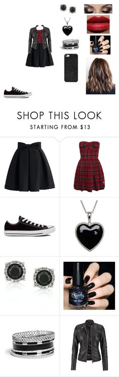 """""""Untitled #336"""" by nala1220 on Polyvore featuring Chicwish, Converse, Lord & Taylor, Mark Broumand, shu uemura, GUESS, maurices and BaubleBar"""
