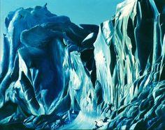 "CREVASSES DE LA MER DE GLACE - Crevasses of the sea ice -  oil on canvas by Pascal Lecocq The Painter of Blue  21""x25 "" 54x65cm lec463 1997 priv.coll. Grand Hallet Belgium.pascal lecocq  #iceberg#art #blue #painterofblue #painting #painter #artist #contemporaryartcurator #artstack #artcartridge #artcollectae #glarify #theartdex #in #pint."