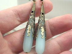 Oído de amazonita mar cristal Anillos playa por sweetstonesjewelry