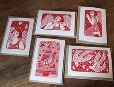 "InkyprintsOriginals on Twitter: ""Sneaking this collection of Christmas linocut cards, all handprinted into the last few days of #printoctober http://t.co/ErH4obBiej"""