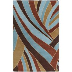 Art of Knot Autauga Hand Tufted Wool Area Rug, 5' x 8', Brown