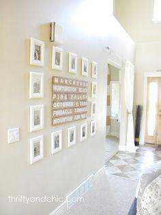 Gallery Wall Idea / Home Decor / Photo Display Ideas