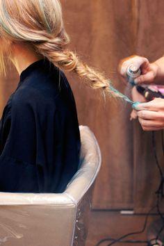 Ombré with hair spray