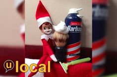 Shaving Elf on the Shelf