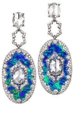 Drop dead gorgeous Jeweled Earrings by BOGH-ART