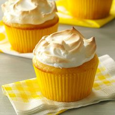 Lemon Meringue Muffins Recipe from Taste of Home -- shared by Nancy Kearney of Massillon, Ohio