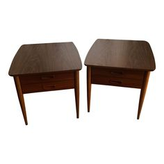 Image of Mid-Century Lane End Tables - A Pair