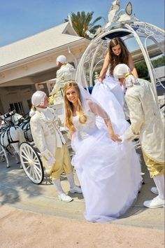 My wedding in Belle's wedding dress at Disney's Wedding Pavilion Belle Wedding Dresses, Disney Weddings, One Star, Princess Wedding, Magic Kingdom, Happily Ever After, Pavilion, Wedding Bells, Fairytale