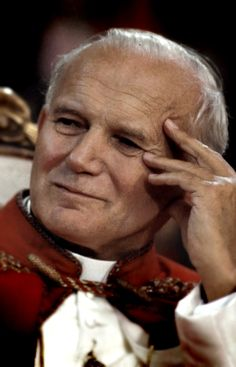Pope St. John Paul II Love this picture of him. I have it on my website.