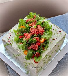 New appetizers recipes party veggies Ideas Veggie Cakes, Vegetable Cake, Sandwich Cake, Tea Sandwiches, Appetizers For Party, Appetizer Recipes, Amazing Food Decoration, Savoury Cake, Food Presentation