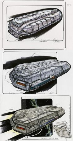 Federation Holoship final designs by John Eaves.