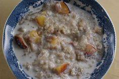 Peaches and Cream Oatmeal
