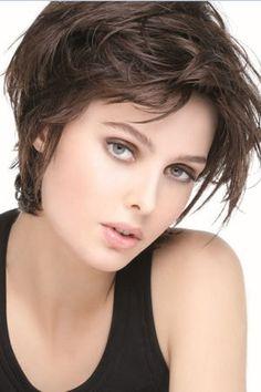 Virginie efira cheveux courts coiffures pinterest for Coupe courte femme de cheveux jean claude aubry