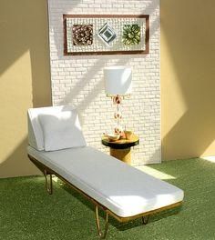 white Herman Miller style chaise