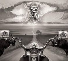Shared by Motorcycle Fairings - Motocc Harley Tattoos, Harley Davidson Tattoos, Biker Tattoos, Harley Davidson Posters, Skull Tattoos, Sleeve Tattoos, Tatoos, Motorcycle Posters, Motorcycle Art