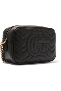 Gucci - Gg Marmont Camera Mini Quilted Leather Shoulder Bag - Black - one size