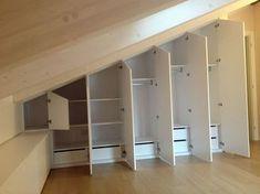 Diy home decor Small Bedroom Wardrobe, Attic Master Bedroom, Wardrobe Room, Attic Rooms, Attic Spaces, Bedroom Loft, Attic Bedroom Designs, Attic Bedroom Ideas Angled Ceilings, Closet Renovation