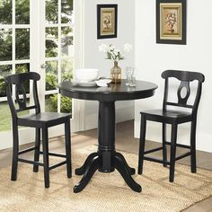 Dorel Living Aubrey 3 Piece Counter Height Dining Set & Reviews   Wayfair