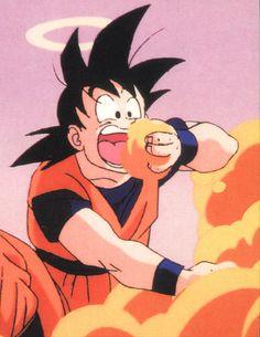 Goku eats anything.... even  clouds #dbz