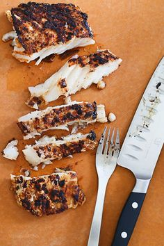 So smart, grill fish in a cast iron skillet on the grill!   Skinnytaste